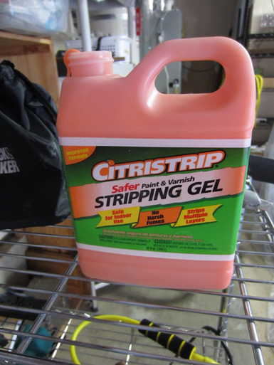 Citristrip stripping gel for kitchen cabinet painting