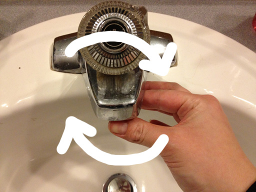 how to remove a moen tap to clean it