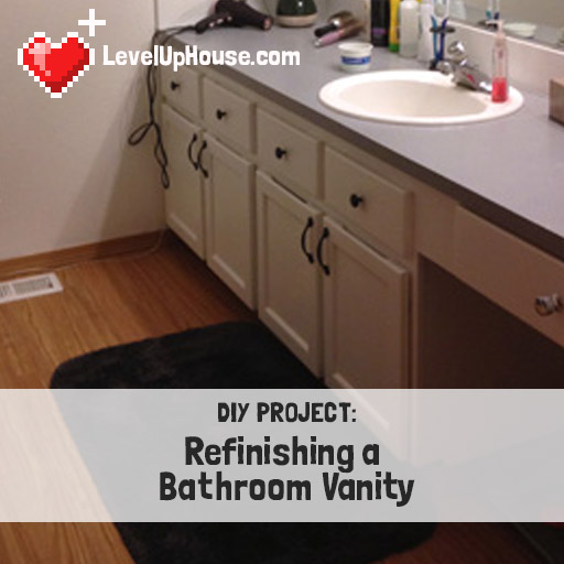 refinishing a wood bathroom vanity (part 1): preparation & stripping