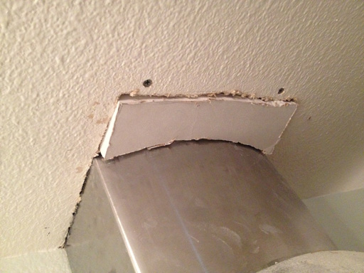 patching ceiling drywall drywall too thick