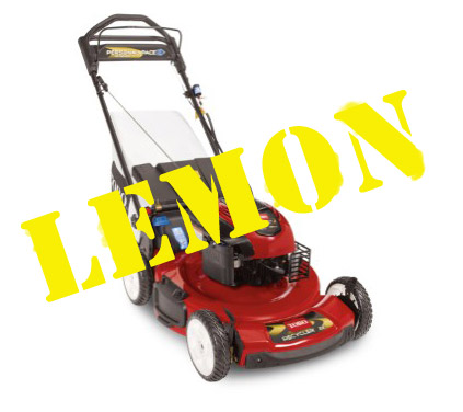 20334 electric start toro lawnmowers suck lemon