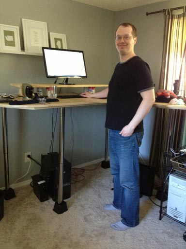 Jim S Very Tall Diy Standing Desk