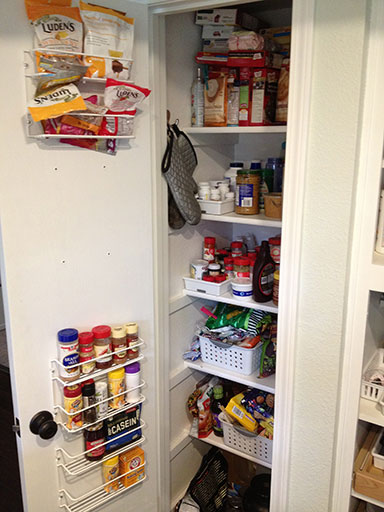 Small pantry organization - cramming way too much into too little space since forever!