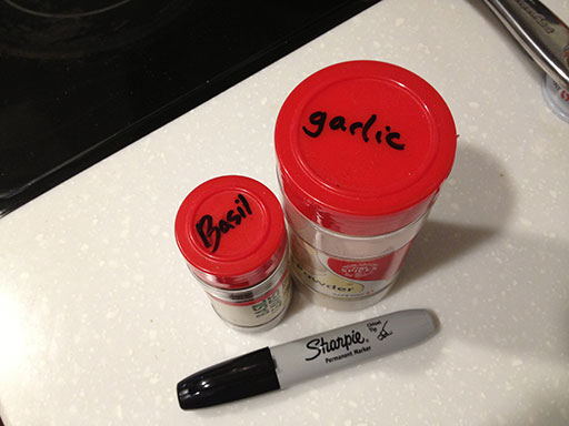 small pantry organization tip 6 label spices