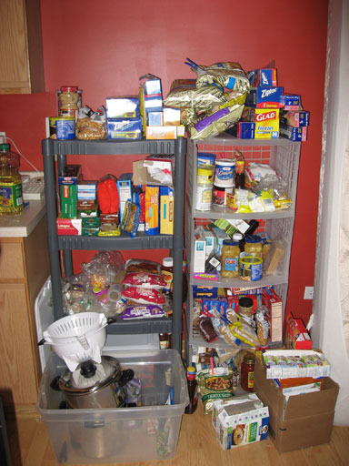 small pantry organization tip 1 less packaged food