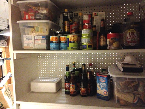 small pantry organization tip extra storage in garage