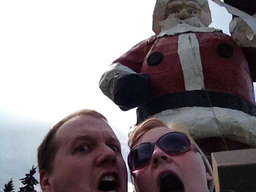 north pole, alaska gigantic santa