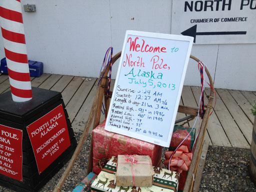 north pole, alaska in july