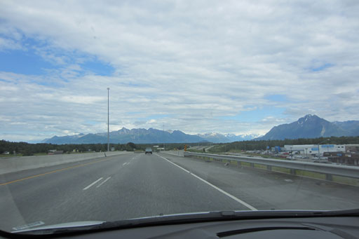 Approaching Anchorage from the north