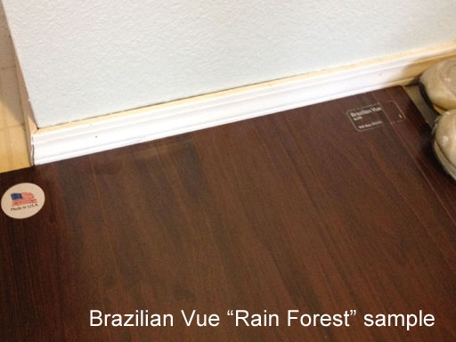 brazilian vue review rain forest sample