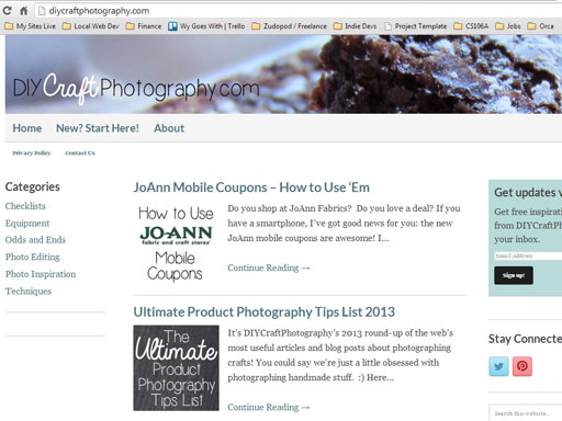 DIY Craft Photography tutorial website for crafters