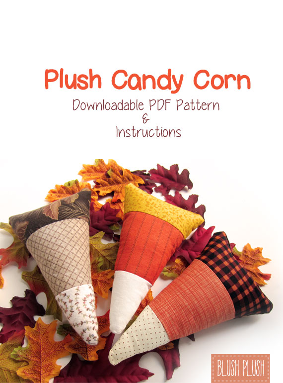 Plush Candy Corn sewing pattern pdf downloadable instructions