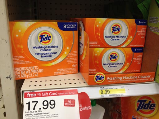 Tide Washing Machine Cleaner review Tide on shelves at Target