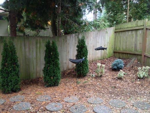 preventing yard ornament rust coated salmon