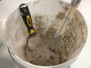 Don't use your prom bucket for mixing mortar, it's going to get messy and scratched.