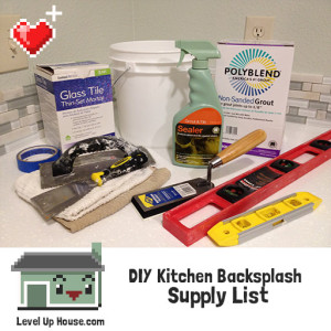 DIY kitchen backsplash supply list