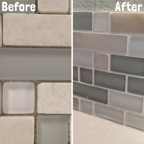 grout_before_after - Diy Kitchen Backsplash Tile