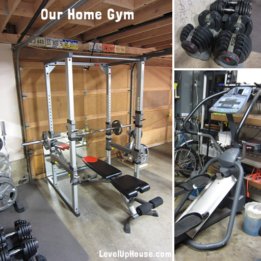 Setting up a home gym in the garage weight lifting cardio