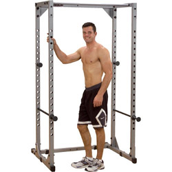 setting up a home gym in the garage lifting rack