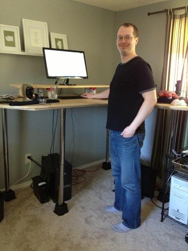 Jim S Very Tall Diy Standing Desk