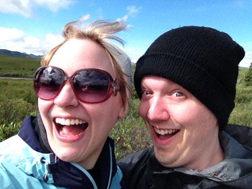 Happy in Denali Alaska