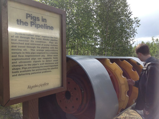 Trans Alaska Pipeline pig