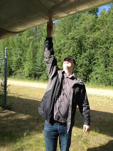 Trans Alaska Pipeline touch