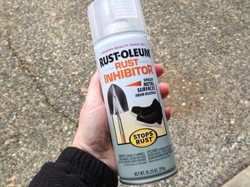 preventing yard ornament rust Rustoleum rust inhibitor spray