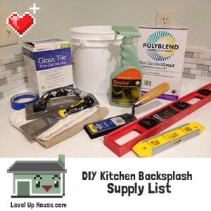 DIY kitchen backsplash supply list