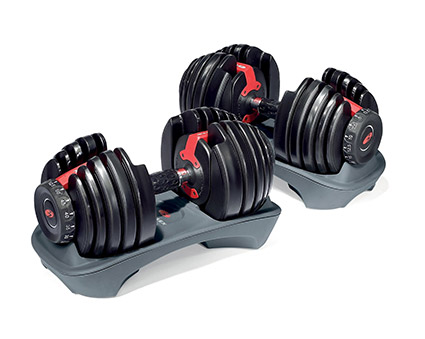 setting up a home gym in the garage bowflex adjustable dumbells