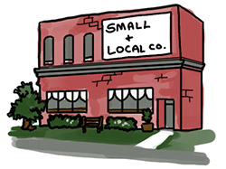 black friday tips for sane people shop local business