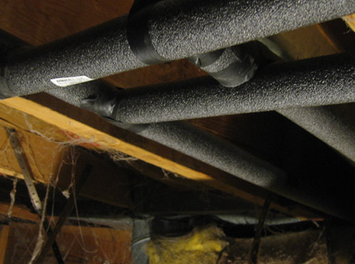 Level Up House: Wrap your hot water pipes with foam insulation to keep heat where it belongs.