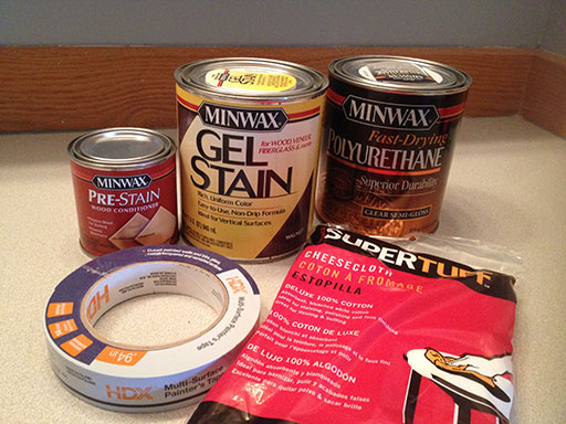 Stain Bathroom Vanity Supplies List